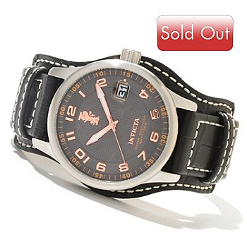 620-462 - Invicta Men's I Force Legarto Quartz Leather Strap Watch w/ Collector's Box