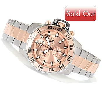 620-477 - Invicta Men's Pro Diver Specialty Quartz Chronograph Bracelet Watch w/ 3-Slot Dive Case