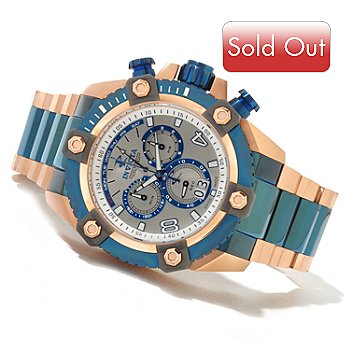 620-493 - Invicta Reserve Men's Grand Arsenal Swiss Quartz Chronograph Bracelet Watch w/ 8-Slot Dive Case