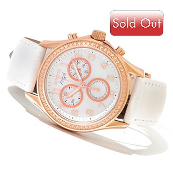 620-664 - Invicta Women's Angel Quartz Chronograph Stainless Steel Strap Watch w/ Collector's Box