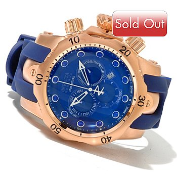 620-692 - Invicta Reserve Men's Venom Swiss Made Quartz Chronograph Polyurethane Strap Watch
