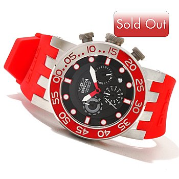 620-696 - Invicta Men's DNA Diver Quartz Chronograph Stainless Steel Strap Watch w/ 3-Slot Dive Case