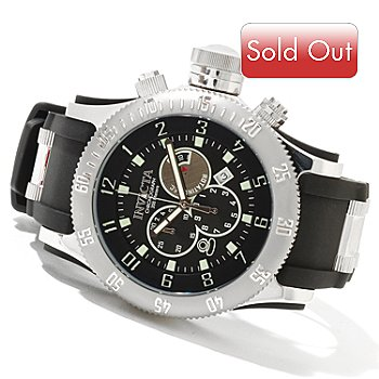 620-707 - Invicta Men's Off Shore Russian Diver Quartz Chronograph Stainless Steel Watch w/ 3-Slot Dive Case
