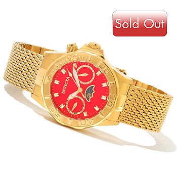 620-713 - Invicta Women's Pro Diver Quartz Stainless Steel Mesh Bracelet Watch