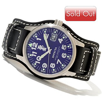 620-718 - Invicta Men's I Force Legarto Quartz Leather Strap Watch w/ 3-Slot Collector's Box