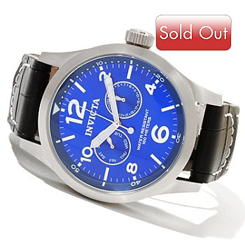 620-719 - Invicta Men's Military Quartz Stainless Steel Strap Watch w/ 3-Slot Collector's Box