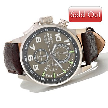 620-720 - Invicta Men's I Force Quartz Chronograph Leather Strap Watch w/ 3-Slot Collector's Box