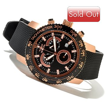 620-722 - Invicta Men's Specialty Quartz Chronograph Strap Watch w/ 3-slot Collector's Box