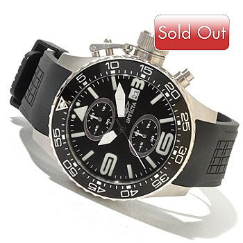 620-723 - Invicta Men's Corduba Diver Quartz Chronograph Polyurethane Strap Watch w/ 3-Slot Collector's Box