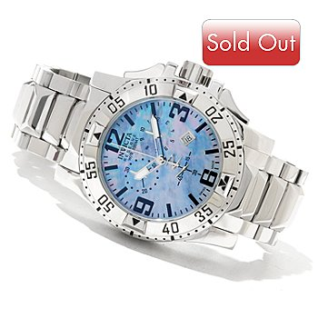 620-733 - Invicta Reserve Men's Excursion Swiss Made Quartz Chronograph Bracelet Watch w/ 3-Slot Dive Case