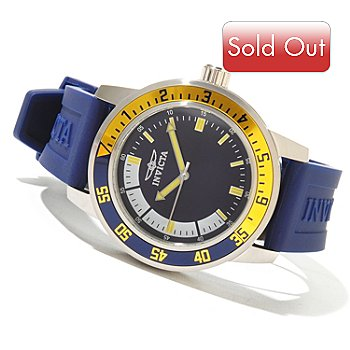620-745 - Invicta Men's Specialty Sport Diver Quartz Polyurethane Strap Watch w/ 3-Slot Collector's Box