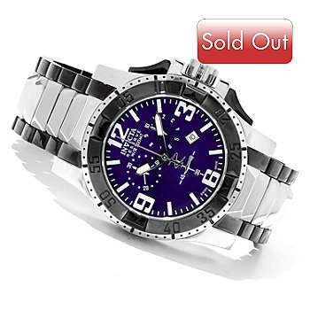620-749 - Invicta Reserve Men's Excursion Swiss Made Quartz Chronograph Bracelet Watch w/ 3-Slot Dive Case