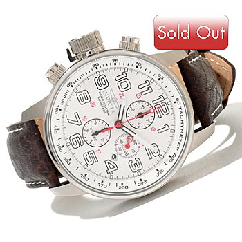 620-842 - Invicta Men's I Force Quartz Chronograph Leather Strap Watch w/ 3-Slot Collector's Box
