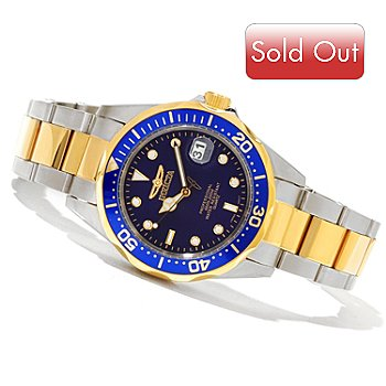 620-843 - Invicta Mid-Size Pro Diver Classic Quartz Stainless Steel Bracelet Watch