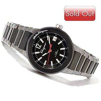 620-871 - Ferragamo Men's F-80 Swiss Made Automatic Titanium Bracelet Watch