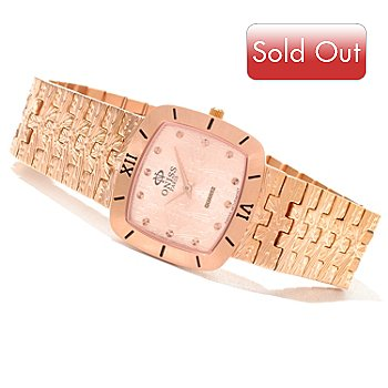 620-877 - Oniss Women's Duchess Quartz Textured Stainless Steel Bracelet Watch