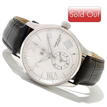 621-029 - Louis Erard Men's 1931 Swiss Made Automatic GMT Leather Strap Watch