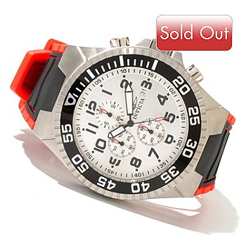 621-184 - Invicta Men's Pro Diver Sport Quartz Chronograph Polyurethane Strap Watch w/ Collector's Case