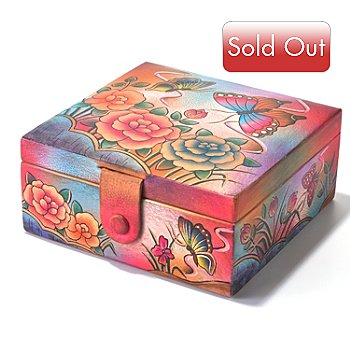 704-250 - Anuschka Hand Painted Leather Watch & Jewelry Box