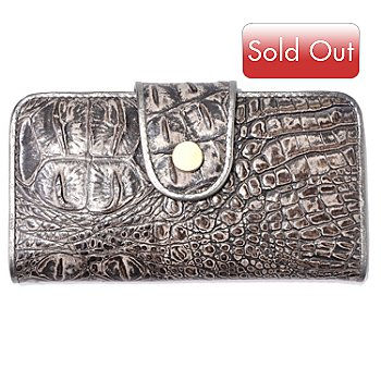704-307 - Madi Claire ''Rebecca'' Matte Croco Embossed Leather Wallet
