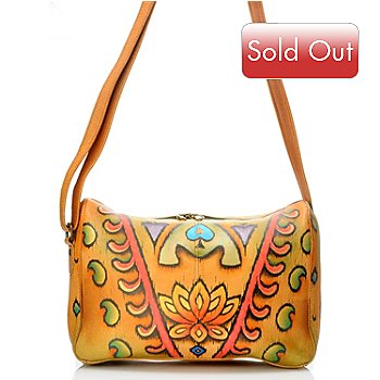 704-502 - Anuschka Hand Painted Leather Zip Around Satchel Handbag