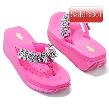 704-533 - Volatile ''Still Water'' Rhinestone Thong Sandals