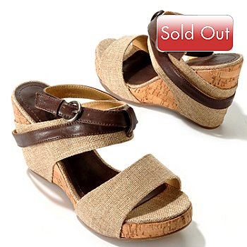 704-553 - Coconuts by Matisse® ''Rogue'' Cork & Fabric Wedge Sandals