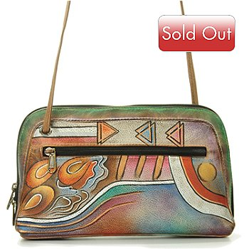 704-948 - Anuschka Hand-Painted Leather All-Around Zip Handbag