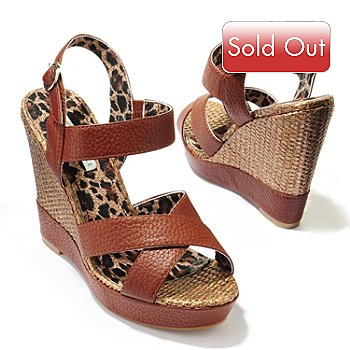 706-084 - Lovely People ''Bonnie'' Crisscross Bands Leather Espadrille Sandals