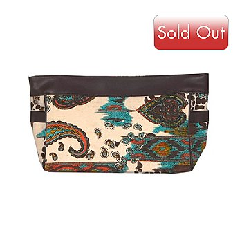 706-716 - Murval ''Safari'' Paisley & Ikat Print Canvas Cosmetic Bag