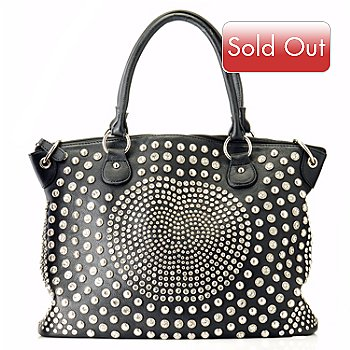 709-212 - Bag Chique Rhinestone Studded Zip Top Tote Bag