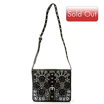 709-213 - Bag Chique Rhinestone Detailed Flap Shoulder Bag
