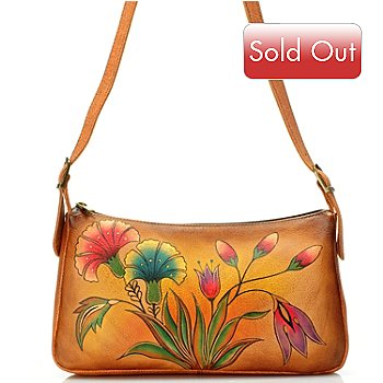 709-220 - Anuschka Hand-Painted Leather East/West Shoulder Handbag