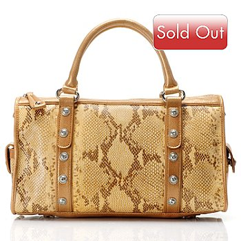 709-583 - Madi Claire ''Jaden'' Snakeskin Embossed Leather Satchel