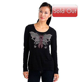 709-672 - One World Long Sleeved Scoop Neck Top