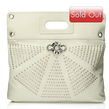 709-686 - Bag Chique Rhinestone & Stud Detailed Cross Body Bag w/ Cut Out Handle