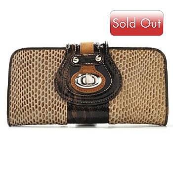 709-689 - Madi Claire ''Lynne'' Snake Printed Leather Wallet