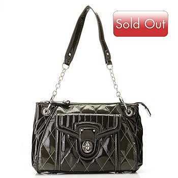 709-702 - Madi Claire ''Jennifer'' Quilt Stitched Patent Leather Bag