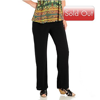 709-943 - Kate & Mallory Solid Knit Pull-On Bootleg Pants