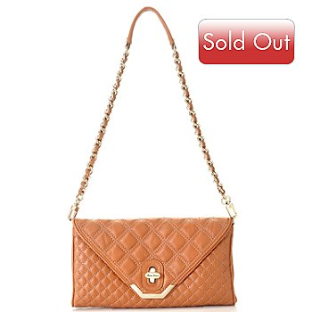 709-995 - Brooks Brothers® Quilted Lambskin Convertible Clutch
