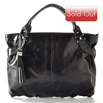 710-026 - Buxton ''Messina'' Tassel Leather Tote Bag