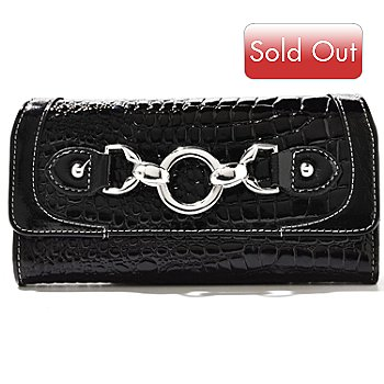 710-301 - Madi Claire ''Abbie'' Crocodile Embossed Leather Wallet