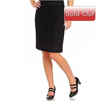710-581 - WD.NY Back Zip Lace Skirt