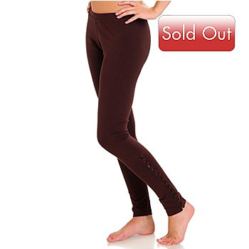 710-588 - WD.NY Loop & Button Trimmed Ankle Leggings