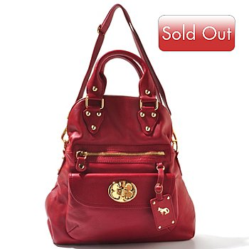 710-596 - Emma Fox Large Zip Top Leather Fold Over Bag