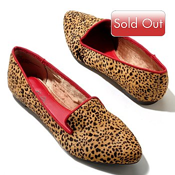 710-634 - MIA ''Bardot'' Calf Hair Animal Print Smoking Loafers