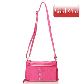 710-703 - Sophisticated Style Studded Zip Top Cross Body Bag