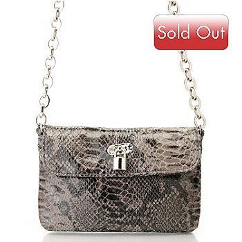 710-704 - Sophisticated Style Chain Linked Snake Print Cross Body Bag