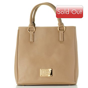 710-798 - Jack French London Leather ''Bond'' Double Handle Cross-body Tote Bag