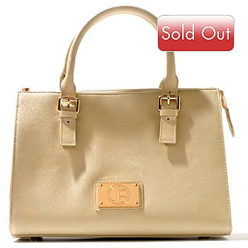 710-800 - Jack French London Leather ''Park'' Zip Top Tote Bag